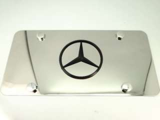 Mercedes Benz Black Logo Metal Chrome Polished Stainless steel License