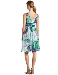 Donna Morgan Floral Chiffon Dress ( Size 18W)