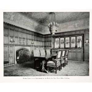 1926 Print Dinning Room Apartment New York City Interior