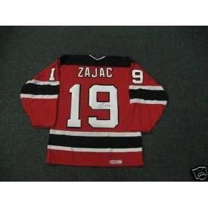 Travis Zajac Autographed Jersey   Autographed NHL Jerseys