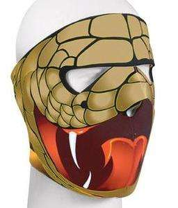 New Extreme Cobra Snake Print Neoprene Face Mask   Hunters/Motorcycle