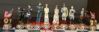 COLLECTIBLE VINTAGE CIVIL WAR ARMY SOLDIER CHESS SET DETAILED STUNNING