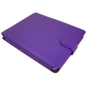 Modern Tech Purple PU Leather Folio Case for Apple iPad