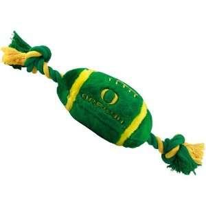 Oregon Ducks Two Tone Plush Football Dog Toy Sports