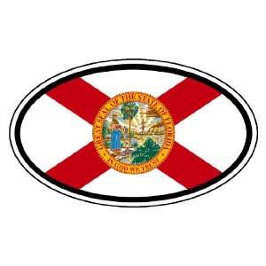 Florida State Flag Car Bumper Sticker Decal Oval