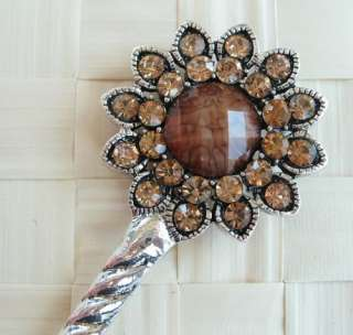 VARY COLORS SWAROVSKI CRYSTAL SUNFLOWER HAIR STICK PIN PICK 387