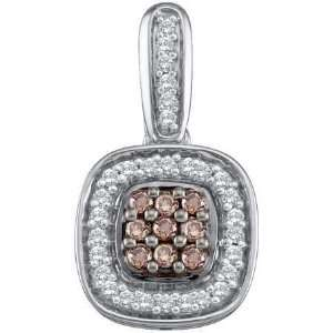 14k White Gold 0.25 CT Exquisite Diamond Fashion Pendant