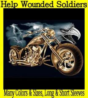 STORM~CHOPPERS~BIKER~T SHIRT~LS/SS~Front or Back~~~HELP VETS
