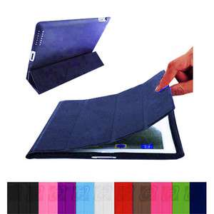 iPad 2 Ultra Slim Magnetic PU Leather Case Smart Cover Stand Multi