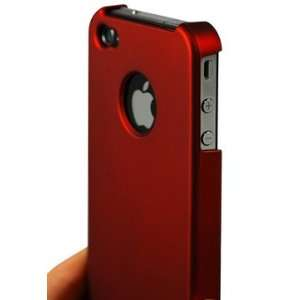 AIC Red Hard Case Cover Apple Iphone 4g Cell Phones & Accessories