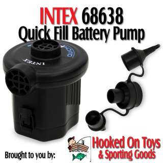 Intex 68638   Quick Fill Battery Air Pump Inflate 120v AC