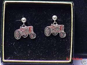 IH International Harvester tractor earrings, NIB