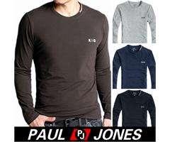 Mens New 90% Cotton long Sleeve Crew neck Casual Basic Shirt T shirt