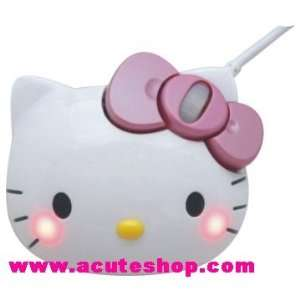 Sanrio Hello Kitty Opitcal Laser Mouse Cheeks Shine Japan Electronics