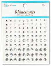 100 Adhesive Rhinestones 17 Colors U Pick Craftaroo LOT