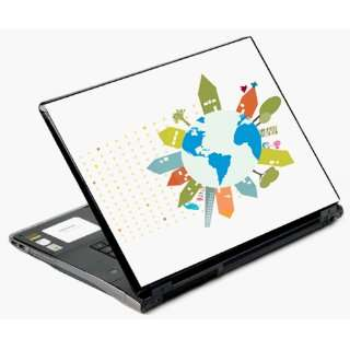 15.4 Univerval Laptop Skin Decal Cover   World Peace