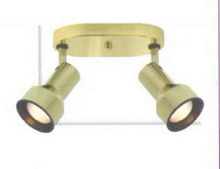 Polished Brass 2 Light Step Cylinder Ceiling Fixture
