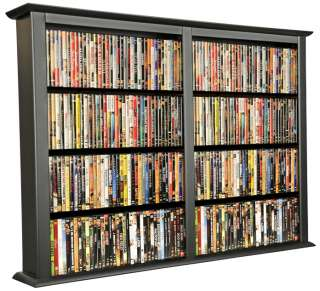 White 1026 CD/DVD Wall Mount Media Storage Rack/Shelf