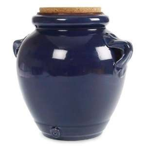 Ceramiche Alfa Ital Earthenware Dark Blue Jar:  Kitchen