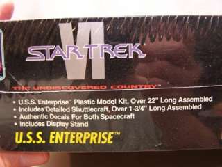 AMT ERTL STAR TREK VI USS ENTERPRISE SEALED MODEL KIT