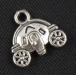 Free Ship 30pcs tibetan silver cute car charms pendants