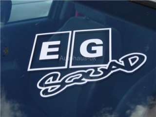 EG Squad Decal. Sticker for Honda Civic del sol Vtec