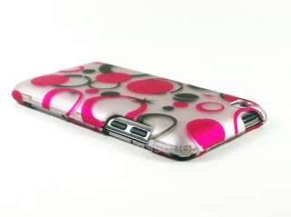 FOR IPOD TOUCH 4 HARD COVER CASE PINK DOTS