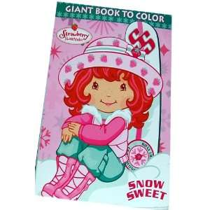 Strawberry Shortcake Giant Book to Color ~ Snow Sweet