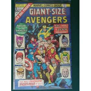 Giant Size Avengers (Marvel Comic #5) 1975 Stan Lee Books