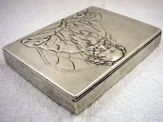 1900s ART DECO STERLING SILVER CIGARETTE CASE LEV TOLSTOY