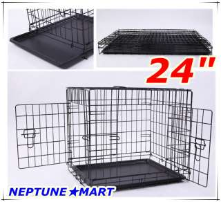 NEPTUNE』24x18x21 2 Door Folding Pet Dog Metal Crate Cage