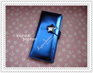 SJ SUPER JUNIOR WITH E.L.F KPOP BLUE WALLET WITH BOX NEW