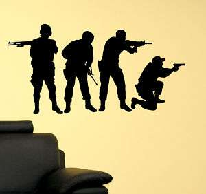 Military Swat Team Army Men Soldier Vinyl Wall Decal