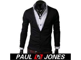 PJ Men's Stylish Slim Fit Comfort Knit Sweaters Jackets Coats Size