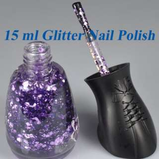 Different Colors Stunning Ladies Glitter Decoration Nail Art Polish