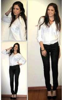 NEW Boyfriend Shirt Elegant Stunning Blouses Women Long Sleeve Shirt