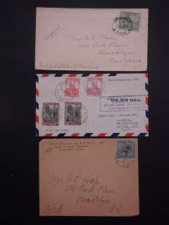 BELGIAN CONGO : Grouping of 18 covers. All to US. Nice lot