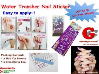 Nail Foil Wraps Water Transfer Sticker Stylish Fashion Applique Polish