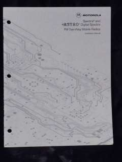 Motorola Spectra/Astro Digital Installation Manual