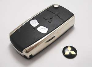 Folding Key Shell Case Pad Cover For Mitsubishi Lancer EVO 2 Buttons