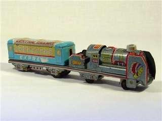 Vintage Tin Litho Friction Toy Train Locomotive Japan