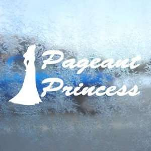 Pageant Princess Beauty Queen White Decal Window White