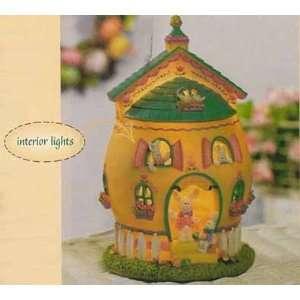 Easter Bunny Egg Lighted Light House Nightlight Lamp
