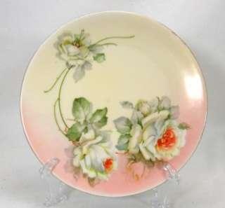Prince Regent Plate Bavaria Porcelain White Roses 8 1/4