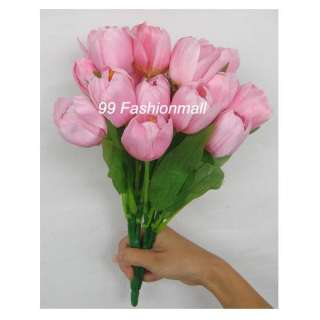 PCS Silk Artificial Tulips Wedding Flowers Stems Bouquet Home Decor