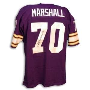 Jim Marshall Signed Minnesota Vikings t/b Purple Jersey