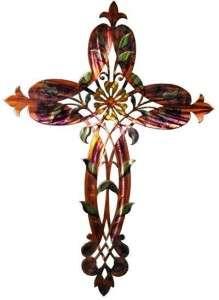 New Large CROSS METAL WALL ART Religious Decor Christian Church