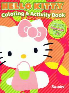 Hello Kitty Orange Coloring & Activity Book Paper Dolls
