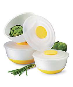 Non skid Yellow Plastic 6 piece Mixing Bowl Set