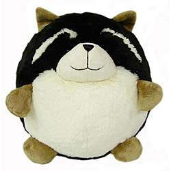 American Mills 7 inch Round Plush Raccoon Pillow